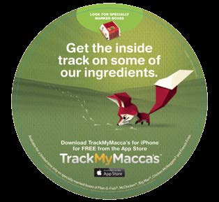 McDonald s TrackMyMacca s With food provenance an increasing concern for many people, McDonald s in Australia released an app that enabled customers to find out from where the constituent parts of
