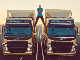 Volvo Trucks Epic Split Belgian martial artist, actor and director Jean- Claude Van Damme does the splits in between two moving trucks to promote Volvo Trucks new dynamic steering system.