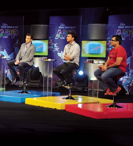 Nokia Lumia Your Wish Is My App As part of a broader marketing strategy to extend its popularity beyond feature phones and into smartphones in India, Nokia launched a nine-episode reality-tv contest