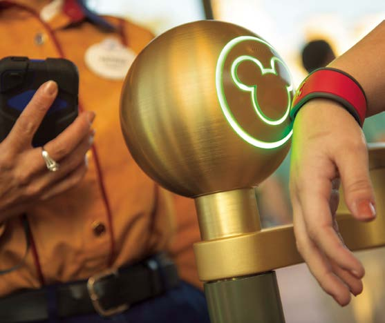 Disney MagicBand Disney announced in January it was rolling out RFID-enabled wristbands at its theme parks.