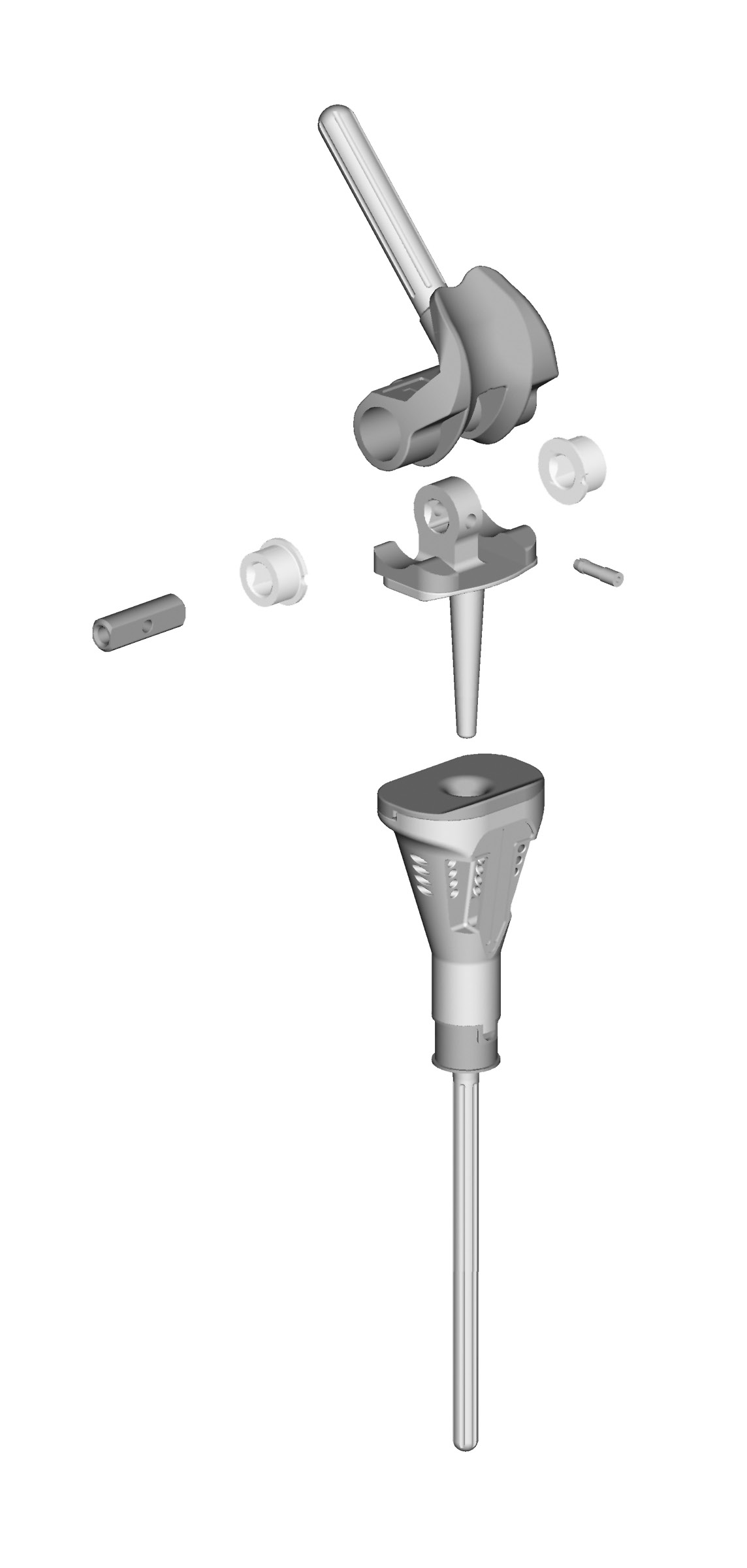Please refer to Appendix D for additional information on patellar preparation. Medial Side Hinge Assembly Fig. 65 Hinge Components There are two hinges in the MOST Options system.