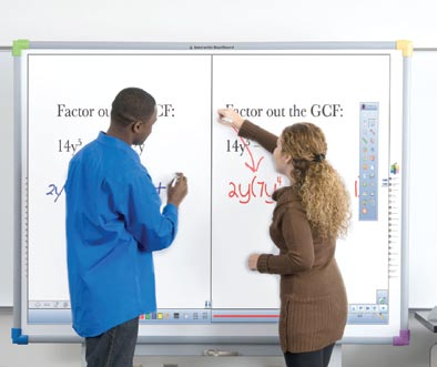 Dual user Interactive whiteboard manufacturers now provide users with the option to purchase and use multi-input / multi-user technology.