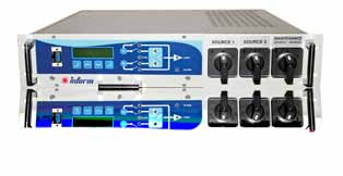 Inform Static Transfer Switch Info-Sts Series (19 Single Phase) 1 Phase in 1 Phase out / 50Amp to 100Amp 19 Rack Mountable Uninterruptible transfer between the independent sources Synchron/asynchron