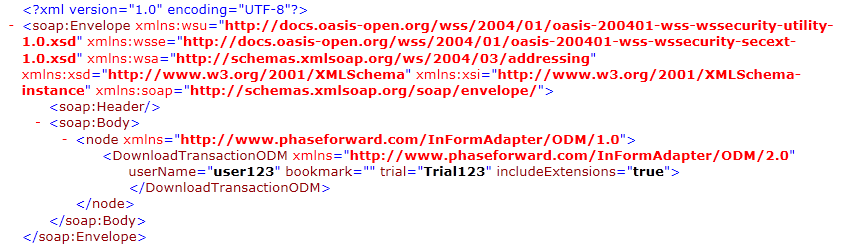 the SOAP request XML file.