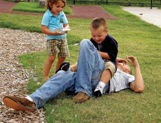 In real fighting, the facial movements are rigid, controlled, stressed, and the jaw is usually clenched (Fry 2005). In rough play, children initiate the play and sustain it by taking turns.