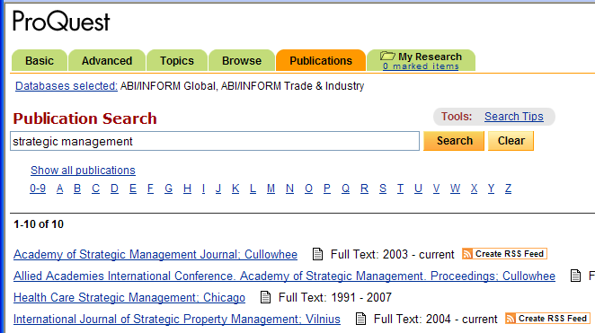 PUBLICATION SEARCH Proquest can also be used as if its periodicals were on a library shelf. You can browse a range of issues for one title, or find a specific issue.