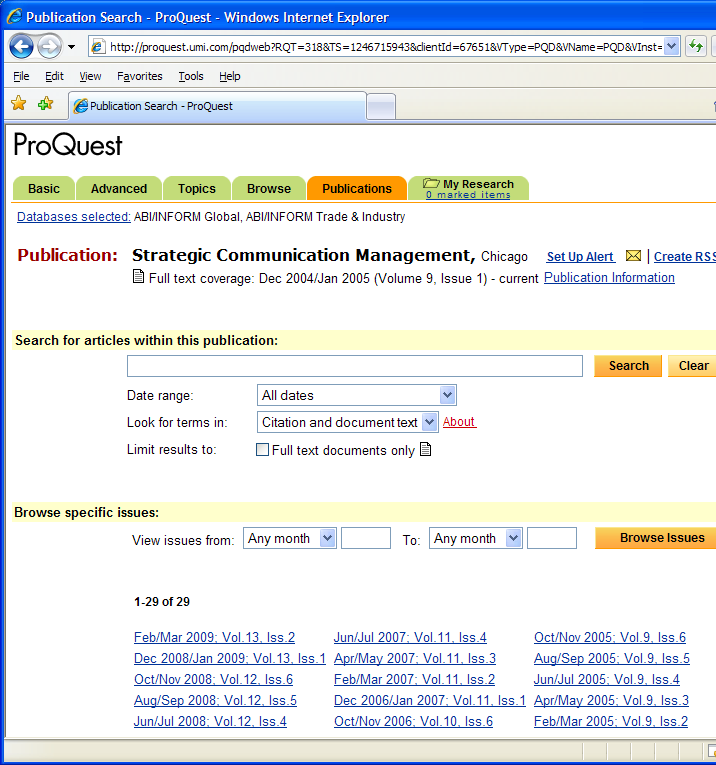 From the page above, conduct a keyword search to find articles within this journal, or click on the
