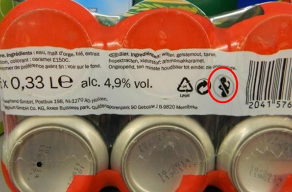 One can see that on bottles, regardless of the type of alcohol, the message is most often placed on a label on the back of the beverage, while the most popular place to include a message on beer cans