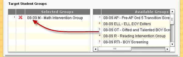 available groups. The Test History tab: Figure 10-6 o Enter the number of years for assessment history.