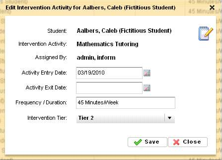 11.4 Edit a Current Intervention Strategies To edit an existing Intervention Strategy: o After logging in, click the AIP icon to display all of the current AIPs.