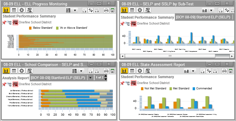 The selected dashboard generates and displays in the Primary Dashboard: Figure 4-6 To display a dynamic report: o Click on a dynamic report title.