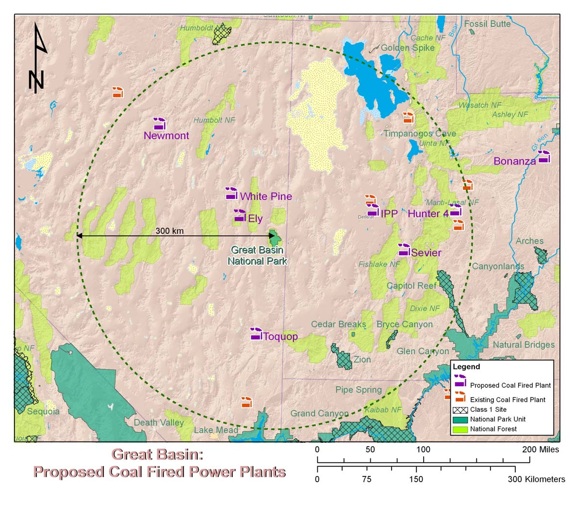Power plants that have received permits or are in active permit process Plant Location Owner Size (MW) Distance from Park CO2 tons/yr SO2 tons/yr NOx tons/yr White Pine White Pine Energy 1,590