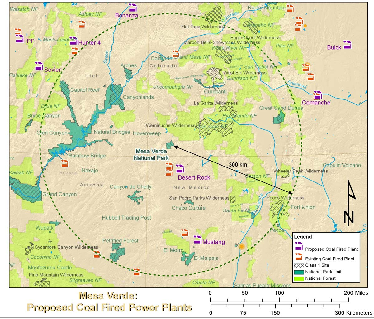 Power plants that have received permits or are in active permit process Plant Location Owner Size (MW) Distance from Park CO2 tons/yr SO2 tons/yr NOx tons/yr San Juan 1500 County, NM MW Desert Rock