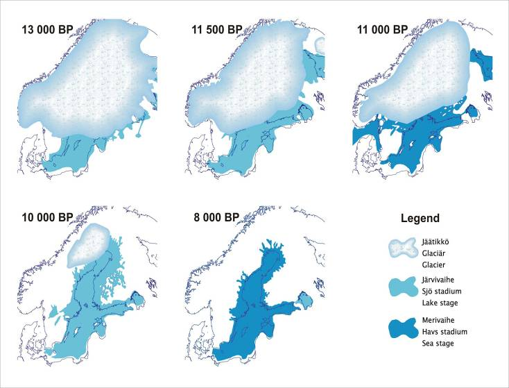 Deglaciation - The history of the Baltic Sea Baltic Ice Lake (early) Baltic Ice Lake