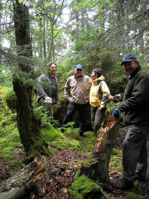 IUCN inspection in primitive forest of