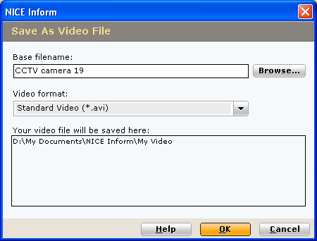 Save Video Check the Close dialog when complete box, which causes the dialog to close automatically shortly after the save process completes, unless an error has occurred, -or- Once the save process