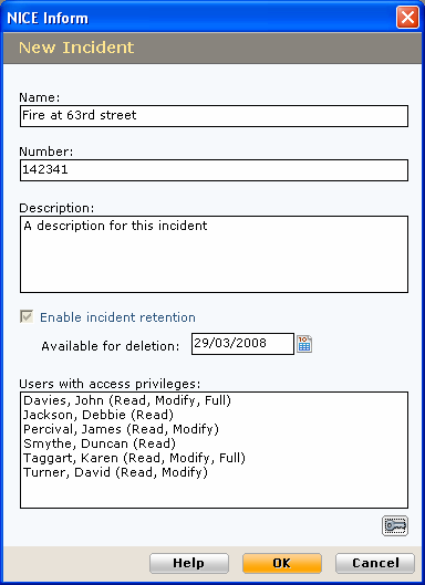 Creating a new incident Follow these steps when creating a new incident: 1 Within the Incidents panel click on the Create new incident button and the New Incident screen is presented: 2 Enter a Name