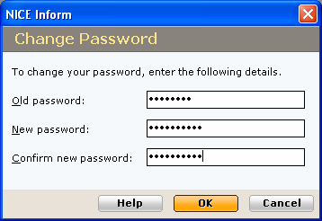 Changing your password To change your password: 1 Click the Settings button at the top right-hand corner of the window. 2 In the drop-down menu, click the Change Password option.