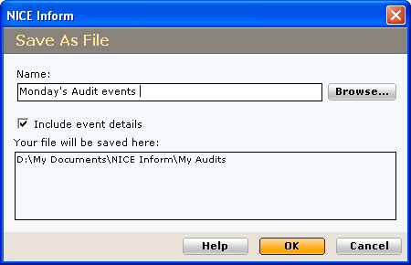 You can scroll through the Event Details of each audit event by clicking the buttons. If you see a red icon then this indicates that the audit event itself has been tampered with.