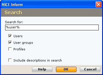 4 Within the Attached Profile table, select the required profile to be removed from the user. 5 Click the Remove button. A disclaimer message is presented confirming the removal.