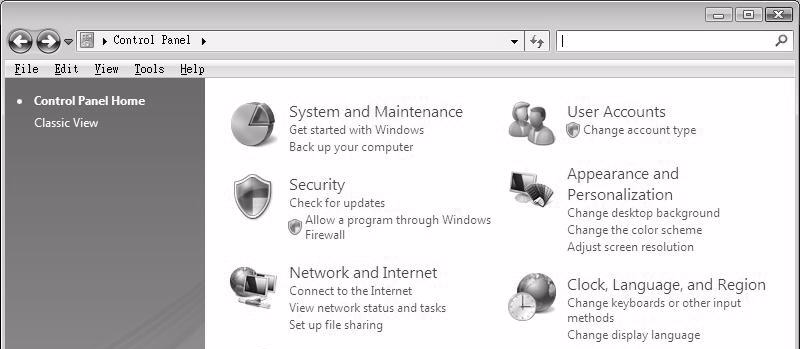 view your IP address and connection information. Windows Vista This section shows screens from Windows Vista Professional.