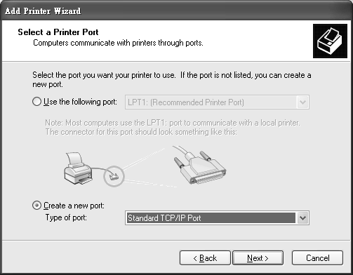 Tutorial: Add Printer Wizard: Local or Network Printer 4 Select Create