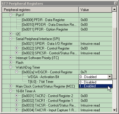 Basic debugging features This allows you to check the value of the peripheral registers at any breakpoint in the debugging