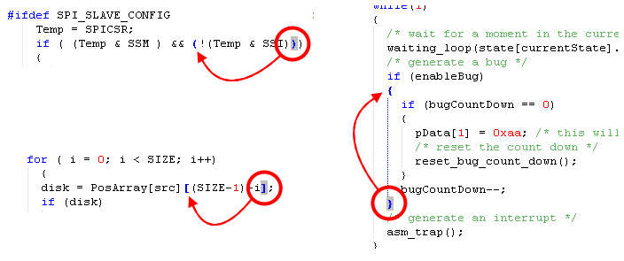 Your STVD graphical environment Brace matching When viewing and navigating in source code, brace matching highlights matching opening and closing braces {}, (), [], <>.