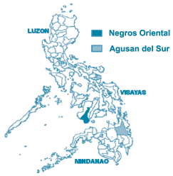 2 province of Agusan del Sur. Their locations in reference to the entire Philippines are shown in Map 1.