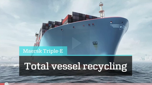 Maersk container ships going Cradle to Cradle Link til