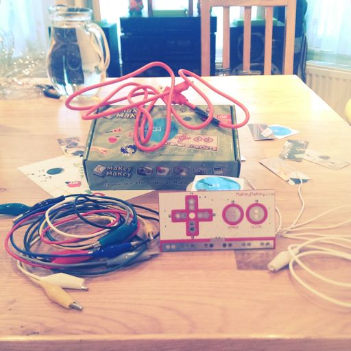 A MaKey MaKey kit + A computer with a working Piano remix for MaKey 2 spare