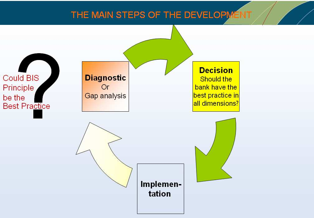 II. Overview of A/L Risk Management system development The typical steps of the system development are the following: Diagnostic, that is used to analyze and describe the gap between current