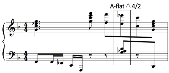 second. 24 One such example of this scrunch chord appear in measure 76 of the fourth movement of Kapustin s Sonata-Fantasia, Op. 39, seen in Figure 9. Figure 9. Kapustin, Sonata-Fantasia, Op.