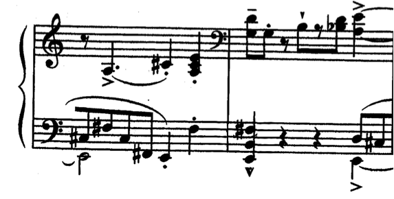 repertoire. For example, not only do Ravel s Toccata and Kapustin s Toccatina share the use of scrunch chords, but they also share a common key and textural construction.