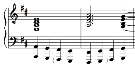 notation, writing jazz chords in a classically academic way that no jazzer would ever do.