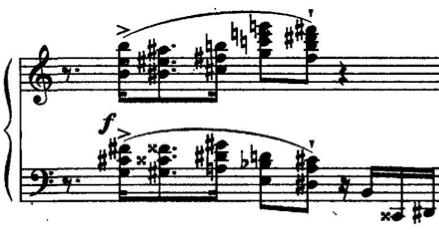 with arpeggiating passages and broad left-hand passagework that seems more like Rachmaninoff