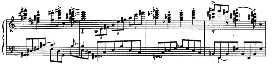 The theme continues to fragment, devolving until the final few measures when all that is left is the two-note motive that propels the performer to the final cadence.