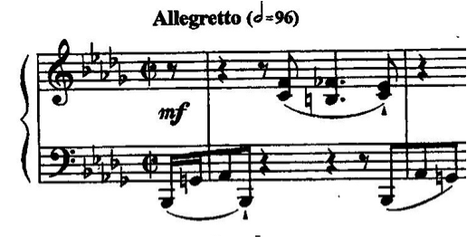 In the liner notes of Marc- André Hamelin s recording of this piece, Jed Distler compares the bagatelle to a Brazilian chorino.