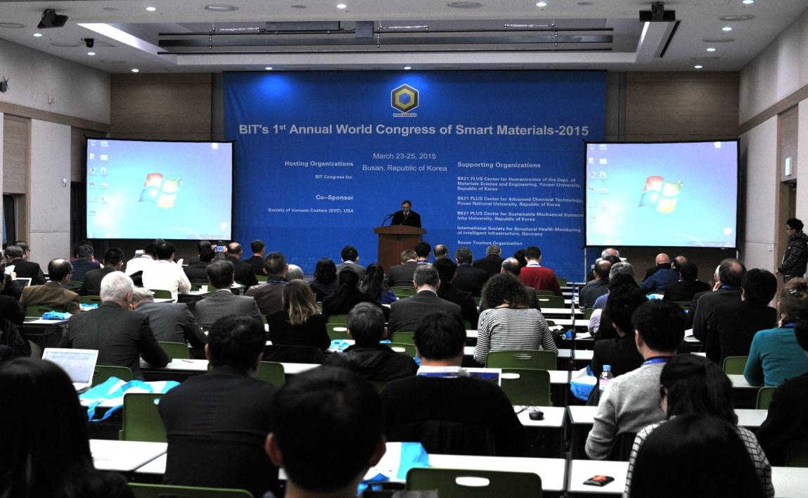 Past Event Report Past Event-WCSM-2015 BIT s 1 st Annual World Congress of Smart Materials-2015 (WCSM-2015), successfully held in Busan Exhibition & Convention Center on March 23-25, 2015.