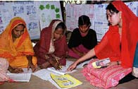 UNESCO/Brendan O Malley Ganokendra Community Learning Centres Women learning to read in a Ganokendra in Bangladesh.