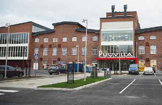 area into an active hub for the whole region. Shopping Centre Puuvilla is starting its activity in the red-brick heritage walls of the old Pori cotton mill in November 2014.