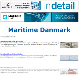 Denmark s Largest maritime news portal maritimedanmark.dk gives its users an instant overview of the most important developments in the maritime world, both domestically and abroad.