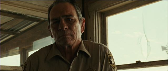 Crucially too, Tommy Lee Jones performance gives physical expression to this engagement with Bell: he makes him an attractive and humane figure, as well as a capable one within the limits he