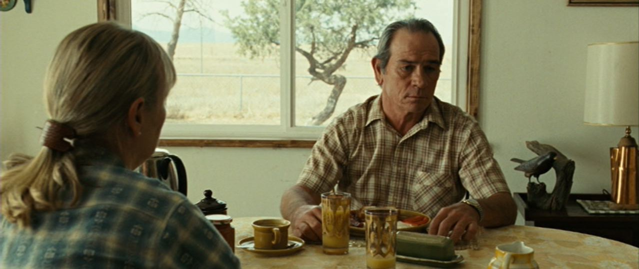 dication in Tommy Lee Jones performance that Bell is either humouring or indulging Giddens. All these things confirm and intensify the film s relationship to Bell.