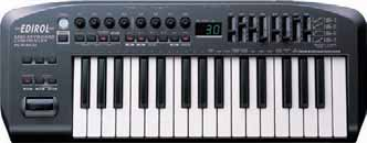 www.bhproaudio.com USB / MIDI Keyboard Controllers 121 EDIROL PCR-300 #EDPCR300 249 00 with an extensive array of assignable real-time knobs, faders, and buttons.