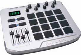 124 USB / MIDI Pad Controllers M-AUDIO Trigger Finger drum control surface designed for drum programming, triggering lops and samples, or generating Its velocity-sensitive pads enable expressive
