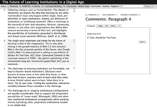 Introduction and Overview 11 Figure 1.2 Screenshot of the Institute for the Future of the Book Web site ( http:// www.futureofthebook.org, accessed on August 13, 2008).