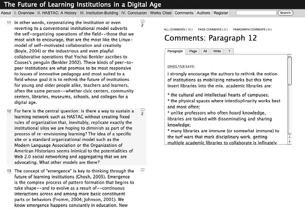 12 Chapter 1 Figure 1.3 Screenshot of the Institute for the Future of the Book Web site, ( http:// www.futureofthebook.org, accessed on August 13, 2008).