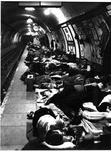 Soon after the Blitz began Brandt was commissioned by Mol to photograph London s shelters; the project was cut short when he got sick.