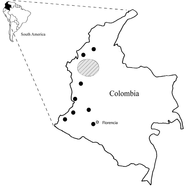 Frausin et al. Figure 1. Distribution of the indigenous group Emberá-Katío in Colombia.